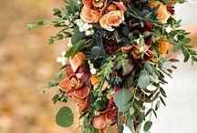 Mariage d'automne / Mariage en automne - septembre octobre novembre. Tons rouge et marron.