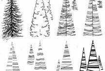 антураж деревья