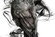 Crow/Skull Tatto