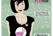 Carteles Mirador Pop desde 2009 / Carteles diseñados por Juncal Horrillo para el Festival y ciclo de conciertos Mirador Pop (www.juncalhorrillo.com)