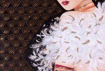 Ženské obrazky ART DECO
