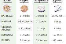 Таблицы рецепты