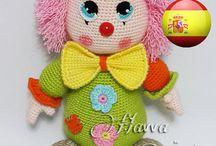 payasos crochet