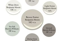 Revere Pewter / Revere Pewter Paint from Benjamin Moore.  Neutral shade of paint.  Greige