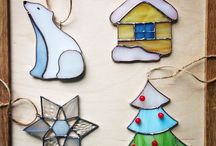 Stained Glass Christmas / Christmas Themed Stained Glass Items