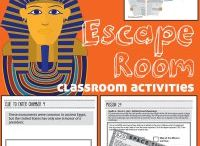 Escape Games and Classroom Challenges / Interactive, cross curricular games. Students solve riddles and find clues using critical thinking and team building skills. Fun classroom activities to study history, math, science, and language arts.