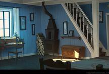 Game's & movie's interiors design
