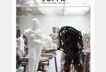SOFFA 07/ Fine Arts / Issue 07 is dedicated to fine arts. In this volume of SOFFA, we visit an atelier of a Czech sculptor and we feature portraits of famous Czech artists. We travel to Jáchymov, Czech Republic and Marseille, France. We also offer delicious recipes and simple and great DIY ideas. Furthermore, we bring the focus to fine art books and original watercolor paintings. Of course, this volume includes stylish interiors and home decor inspiration.
