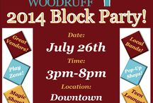 2014 Main Street Woodruff Block Party / Our first annual block party, June 26th 2014.