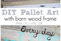 pallet/barn wood / by Steph Buchert