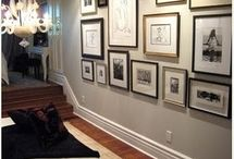 Gallery Wall / How do you decide what to do with a big blank wall?  I guess Pinterest is the place to look for ideas!