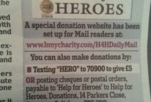 DONATING TO DAILY MAIL HELP FOR HEROES