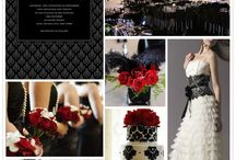 Red, White, and Black Wedding Colors