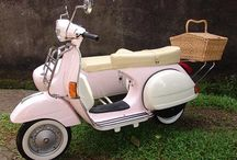 Vespas and with sidecar