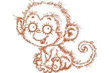 Рисованные обезьянки