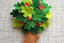 árbol fieltro