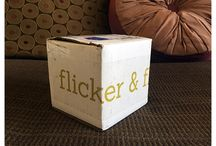 """Flicker & Flame / About: """"Hand Made, Custom Scented, Addictively Aromatic."""" For full subscription box reviews, visit http://musthaveboxes.com."""