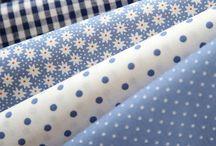 Telas combinación tapicería azules