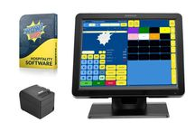 """Wowpos Hospitality Epos System  Package / A complete EPOS package with a 15"""" Touch Screen System, Thermal Receipt Printer and WOWPOS Software.  This is an ideal package for any type or size of Restaurant, Bar, Club, Deli or takeaway.  This package is offered at an unbeatable price and allows any small business to benefit from the latest EPOS system without any commitments or lengthy contracts"""
