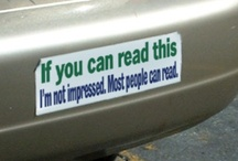 Funny Bumper Stickers / Funny Bumper Stickers / by Nutley Kia