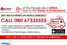Blood For Sure Ambulance / Get connected to your nearest Ambulance, Blood Donor, Blood Bank during Medical Emergency