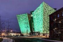 St Patrick's Day 2014. Titanic Belfast goes green.