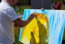 Fenster Art / Emerging and Established Artists.  Artworks for sale and commissions.