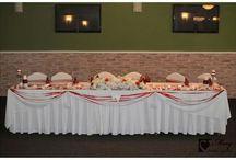 Svadobná výzdoba v červenom