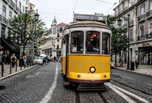 Trams in Lissabon