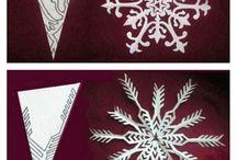 Copos de nieve de papel