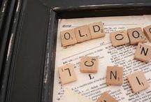 Scrabble decorations