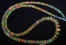 Super Unique Faceted Ethiopian Opal String Necklace / A Vast collection of AAA +++ Super Flashy Matallic  Neon Color Play in Faceted Opal Strings Necklace