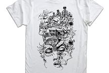 T-Shirts / We make limited runs of individually screen printed t-shirts using designs by many different contributing artists, designers and illustrators. We print onto 100% organic cotton tees. This is a product you won't find anywhere else!