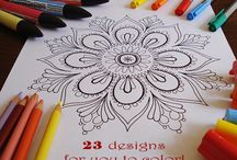 coloring pages / by Chloe+Isabel