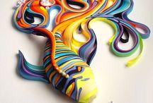 Paper stripes art