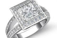 Princess Shape Diamond Engagement Rings / Javda All Princess Engagement Ring