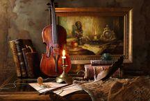 Andrey Morozov (Belarus).  Natură statică (fotografie) / Predominant cu vioară