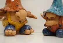 Maninude italia / Trolls in ceramica e terracotta prodotti interamente a mano