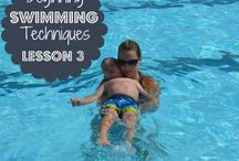 Swim lessons and games