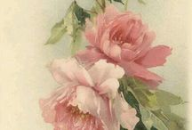 romantic & vintage flowers art