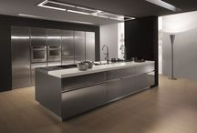 Steel / Efficiency, strength and easy care. The steel surfaces became design elements in the kitchen.