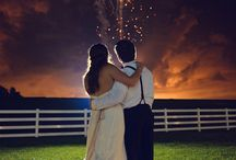 Warm Summer Night Wedding - June 27, 2015 / This adorable couple got married on a beautiful warm summer night. Florist - Billy Heroman's, Bakery - Sweet Impressions, Photography - Brandon O'neal.