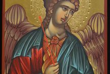 Handpainted Byzantine Tempera Icons with 24k Gold