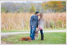 Engagement sessions with dogs