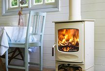 Free Standing Stove Ideas / Even if you don't have a fireplace, you can still make a beautiful feature of the stove