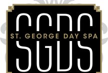 St George Day Spa {Brand Board} / All the wonderful things that embody St George Day Spa and what this brand will look and feel like.