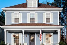 pretty painted houses / color combos for dream home making