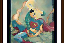 my best acrylic painting / superman death of superman dc comics acrylic painting man of steel books art dc comics