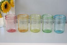 Jars & Bottles  / Apothecary, milk bottlles, jars, glass, crafting with glasswares. / by Nicole S