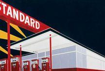 30. Ed Ruscha- Gas station